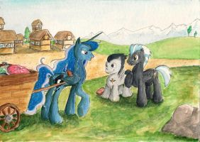 Commission: Meeting Luna by SoulEaterSaku90