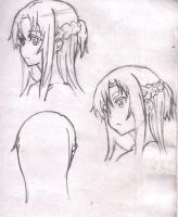 Asuna Rough Sketches by Jasian1