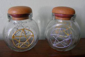 Goddess And God Jars by Wilhelmine