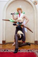 Wakfu Sir Sadlygrove and Evangeline by MayWolf23