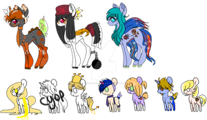 Unsold Adopts+One newly made pony [OPEN] by MaggiesAdoptables