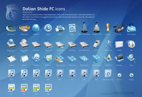 Dalian FC icon design overview by gaolewen