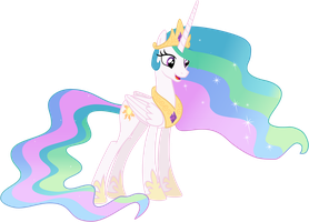 Princess Celestia talking by nano23823