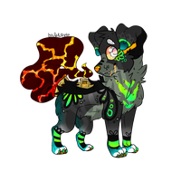 Lava Faucet Hound Adopt (OPEN) by UnchartedUnknownStar