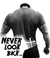 Never look back tattoo design by kaizer4o
