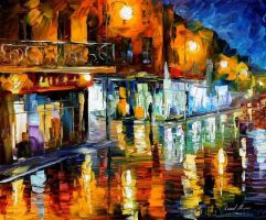 Afremov DATE Original Art Oil by Leonidafremov