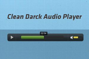 clean and darck audio player by abdelhakimknis