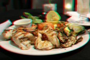 seafood in 3D stereo photo 2 by amirajuli