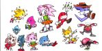 Sketches, Chibi-Sonic by Reallyfaster