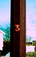 Rusty Pole Number 3 Stock by mindym306