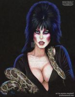 Elvira - Mistress of the Dark by The-Art-of-Ravenwolf