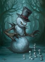 The Evil Snowman by Zeeksie