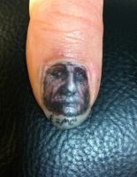 albert thumb nail tattoo by JWheelwrighttattoos
