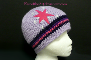 Twilight Sparkle striped hat by KateoftheArt