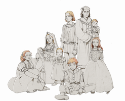 Tudor Family Portrait - AU by nami64