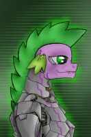 Spike The Cyber Dragon by PaintMech-paints