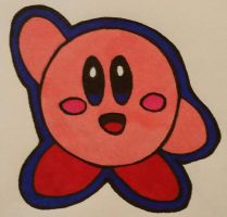 Kirby  (sharpie edition ) by LudeMagik