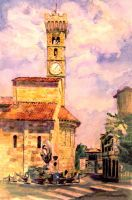 Watercolor - Fiesole by AncientSources