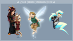 Zelda Special Commission Batch by pudgybat