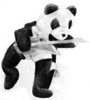 Panda on Guitar by magewish4