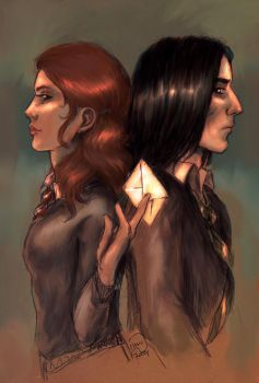 The Note +Lily and Snape+ by Linnpuzzle