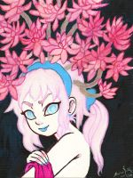 Pink Succulent by AndrewLaFish-Arts