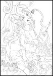 Zyra vore Lineart by Karbo