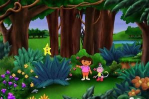 Dora needs your help to find Slenderman by Green-Nightingale