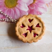 Cherry Pie with Star + Hearts by JanetSaw