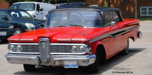 Red Edsel Ranger 0055 6-19-14 by eyepilot13