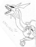 Rayquaza first drawing by Weirda208