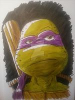 Donatello the turtle by graphicus-art