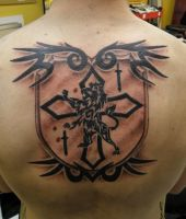 tribal shield by INKjunkie666