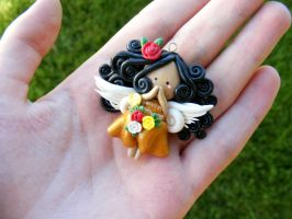 Mexican themed angel flat figure charm by HopieNoelle