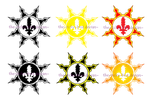 Solar Flair logo commission compo by The-Itchy-Bird