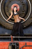 Leathercraft: Handmade leather corset. by evamorgan