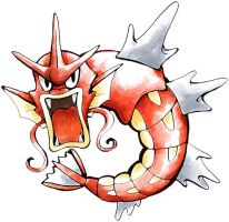 red gyarados by SailorClef