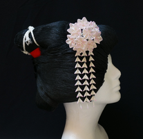 Delicate Cherry Blossom Pink Kanzashi 169 by japanesesilkflowers