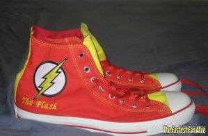 Flash Converse Chucks by FastestFanAlive