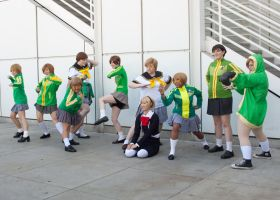 Persona Gathering  - Chie and Aigis by EriTesPhoto