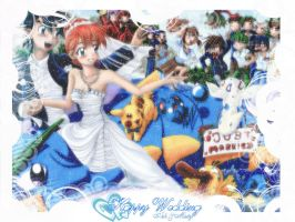 Happy Wedding by MiyaT by AimaiLeafy