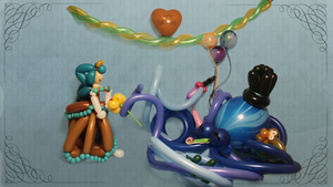 Otto, Victoria, and Balloons by Jolinnar