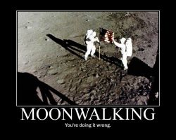 Moonwalking Motivational Poster by Sonicluvr5