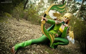 Windranger  DOTA 2 - Wings of the Gilded Falcon by GunnerYunie
