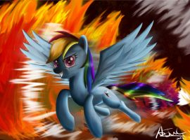 Rainbow Fire? by aJVL