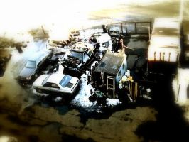 Crashed Cars. by liberate-your-mind