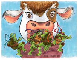 TMNT: With Cudley the Cowlick by loolaa
