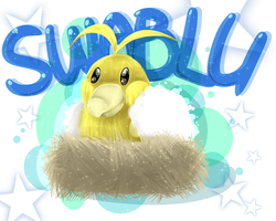 Shiny Swablu. by nuclear-smash