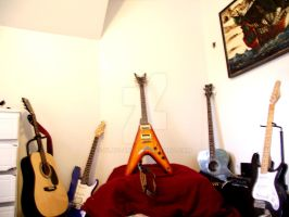 4 guitars 2 acoustics 1 bass by SLay-ART