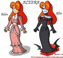 Vampire bride before and after by BrokenTeapot